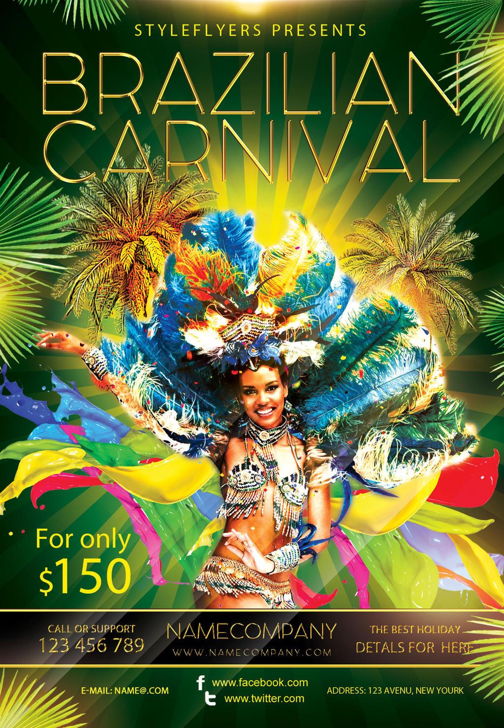 Brazilian-carnival-travel-flyer by Styleflyers on DeviantArt