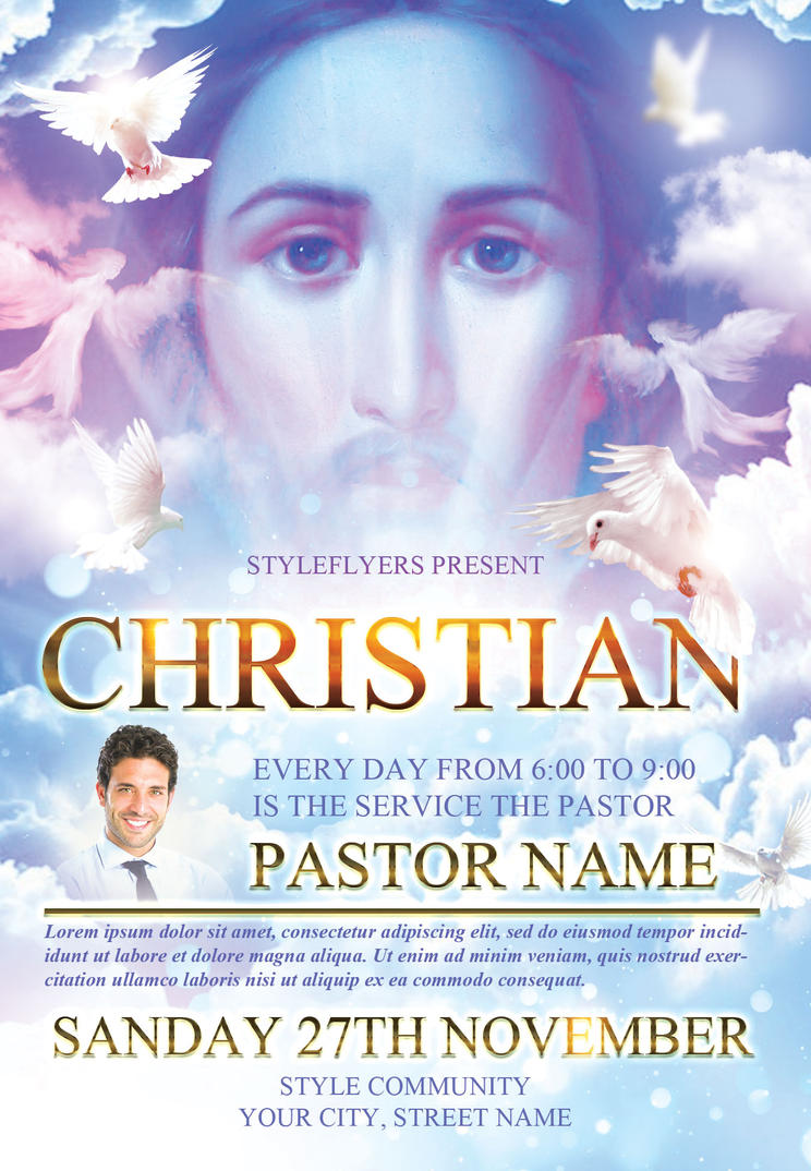 Christian flyer templates by styleflyers on deviantart for Religious flyers template free