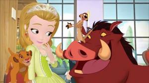 Timon and pumbaa meets princess amber with simba
