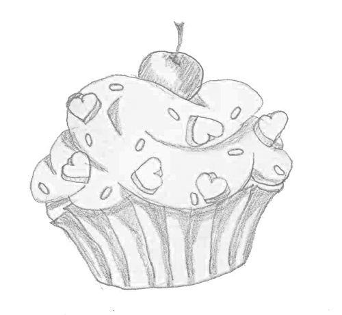 Cupcake Tattoo Line Drawing By Nikkay2