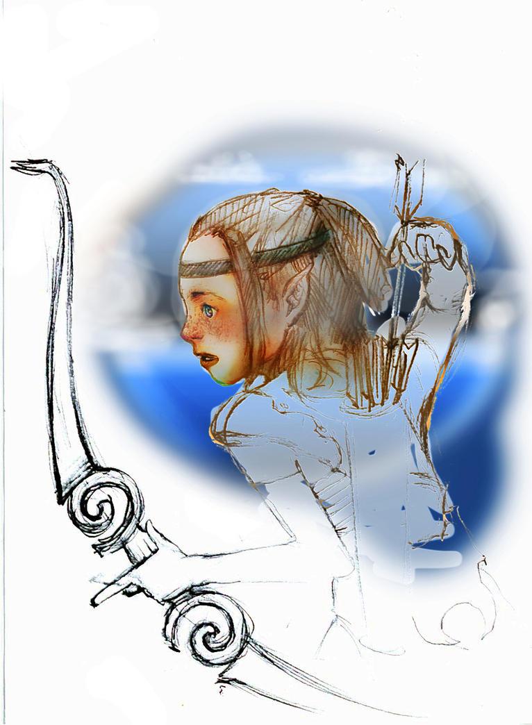Elf doodle in color by O-b-s-e-r-v-e-R