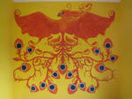 Golden Phoenix .:wallpainting:.