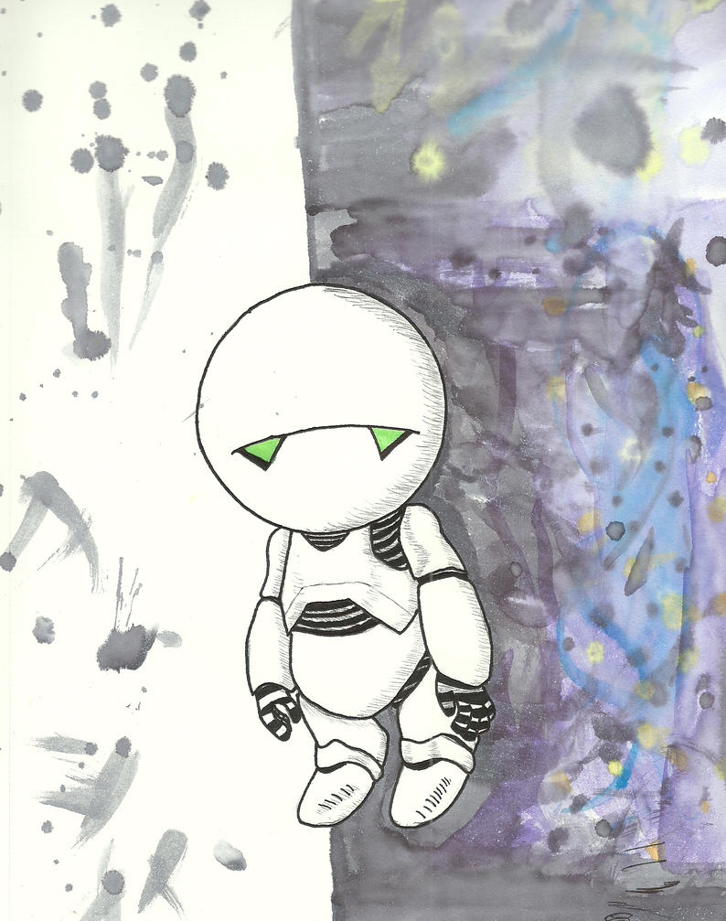 Marvin the Paranoid Android by BPriceOnPluto