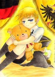 APH - Chibi Germany and Holy Rome by black-wolf-tala