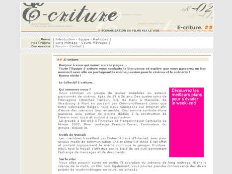 design web E-criture