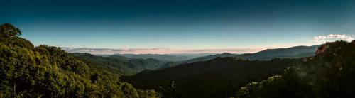 North Carolina Smokies Panorama by savedforarainyday