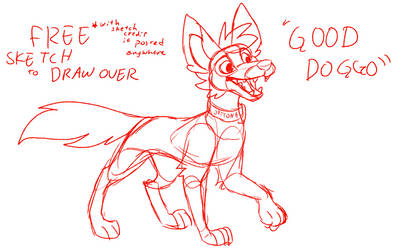 Free Sketch - Good Doggo