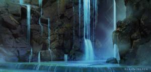Landsketching - Waterfall