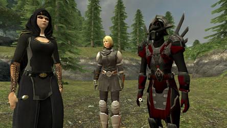 Empress Vaylin, Lana Beniko and Darth Chezzyc by GmodJo