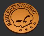 Harley Davidson paperweight