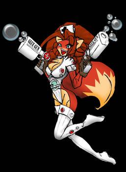 WIP- colored foxy Chloe... er Kat