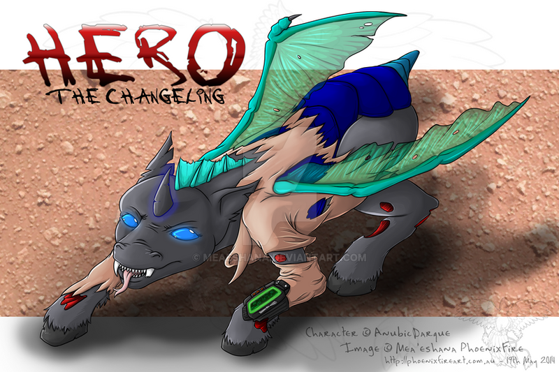 Giveaway Prize Art: Anubis' Hero (Changeling) by Meaeshana