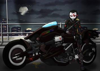 Arkham X-Bike by Meaeshana