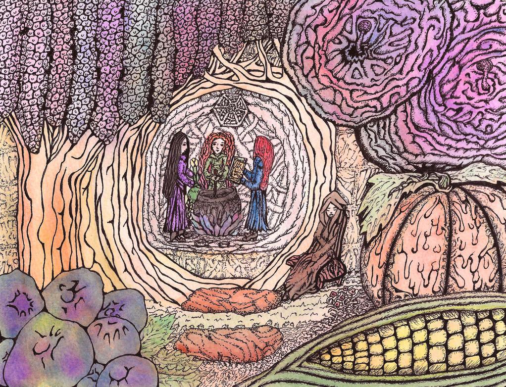 Little Witches at Work by darkallegiance666