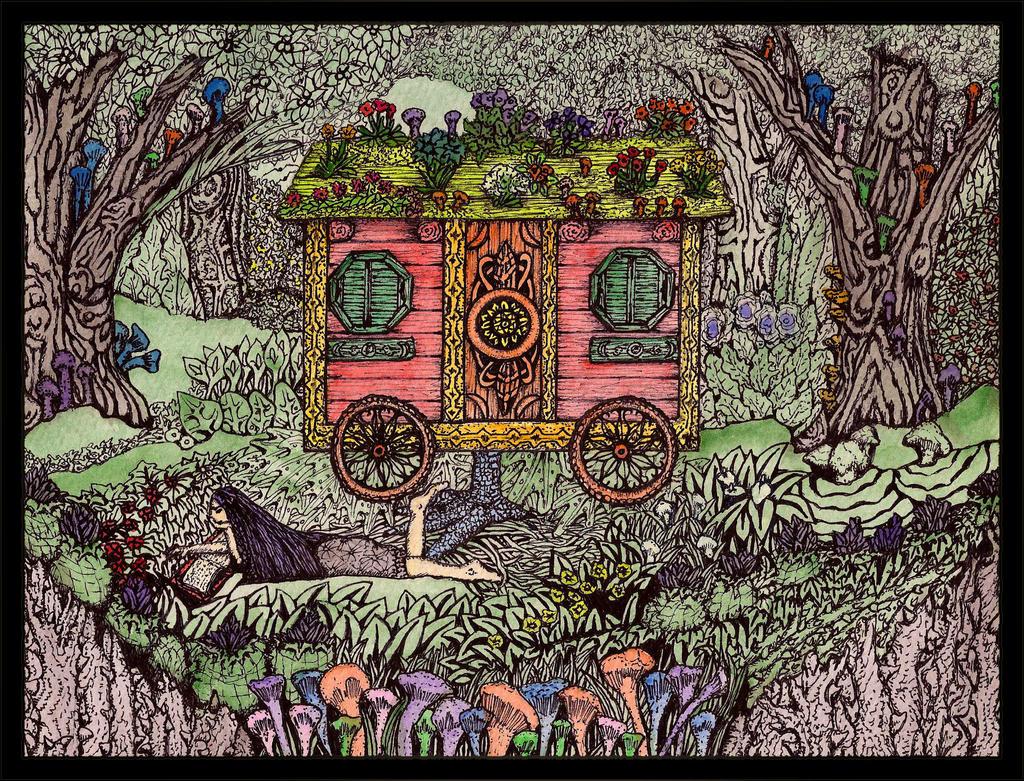 The Travelling Witch by darkallegiance666