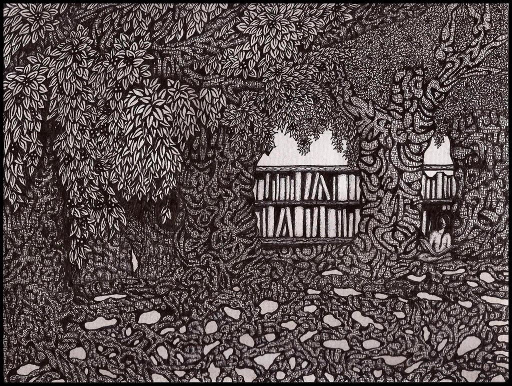 Woodland Library by darkallegiance666