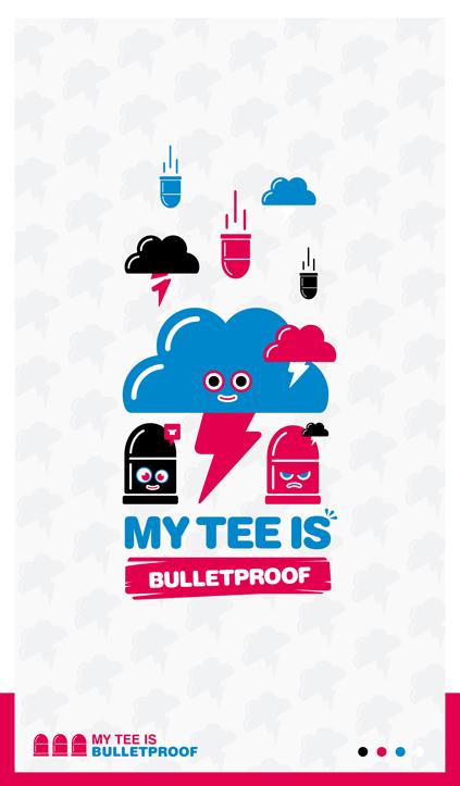 My Tee is bulletproof by Defect303