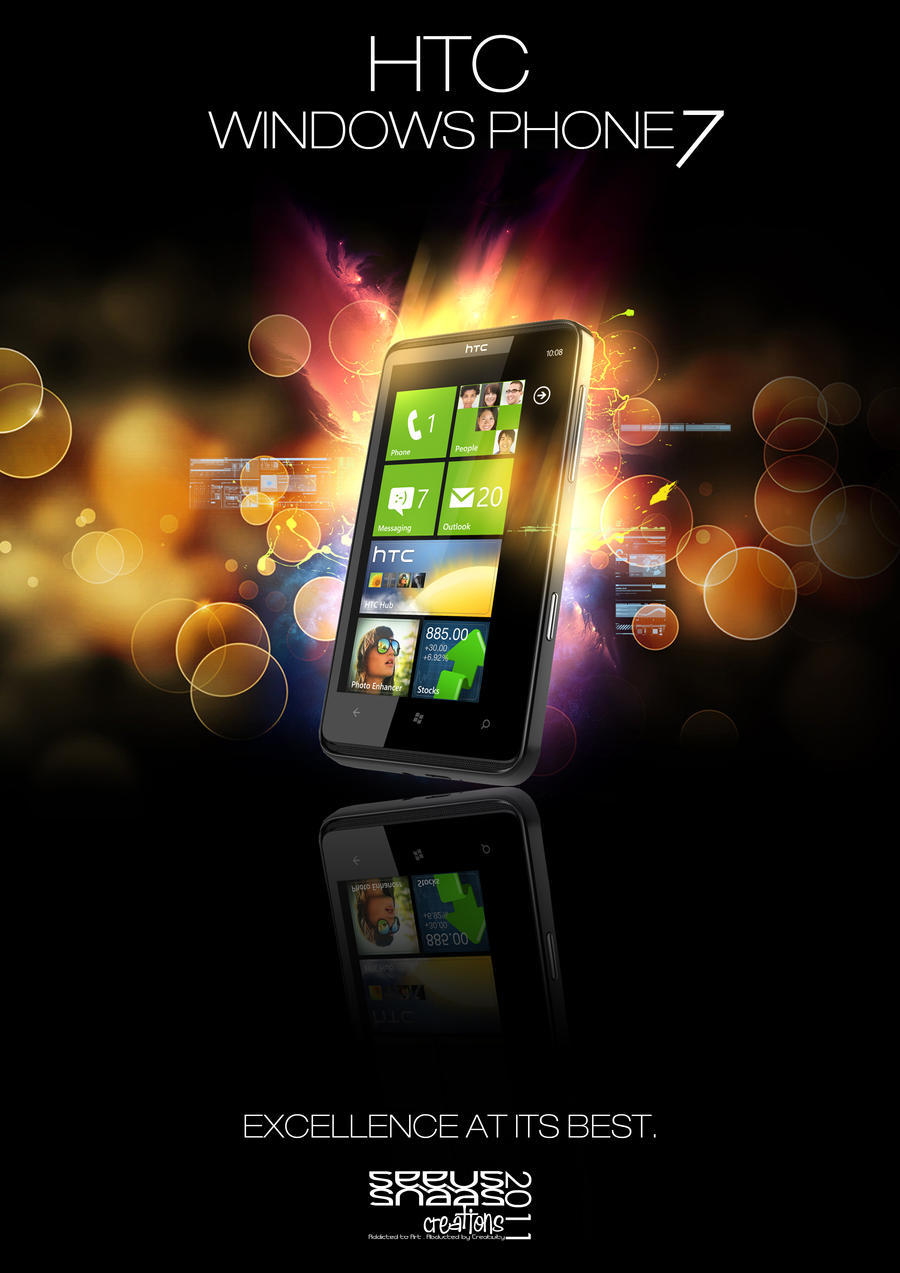 HTC Windows Phone 7 Ad by SeeusCreations