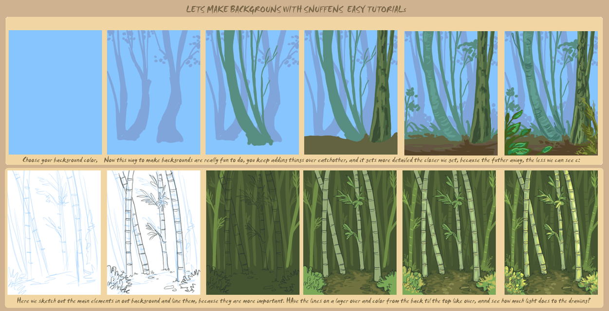 Background tutorial by griffsnuff on DeviantArt