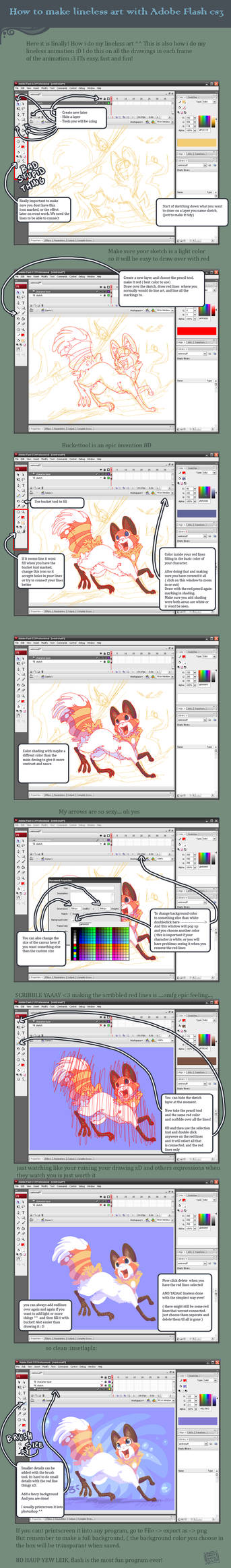 Lineless art flash tutorial by griffsnuff
