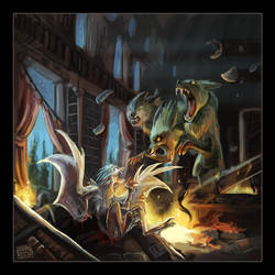 Deathfight by griffsnuff