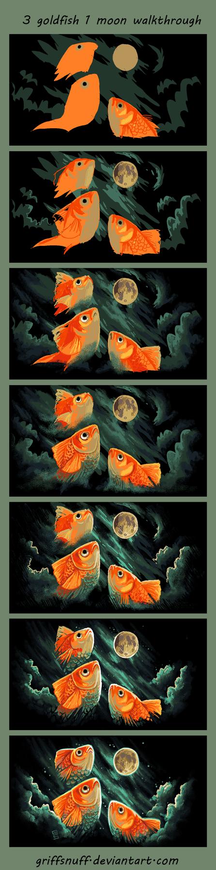 3 goldfish 1 moon walkthrough by griffsnuff