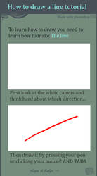 How to draw a line tut