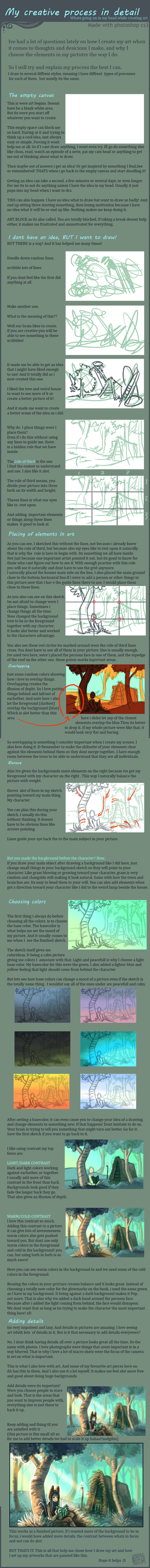 My creative art process by griffsnuff