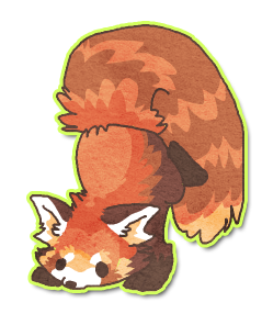 Chibi red panda by griffsnuff on deviantart - Panda roux dessin ...