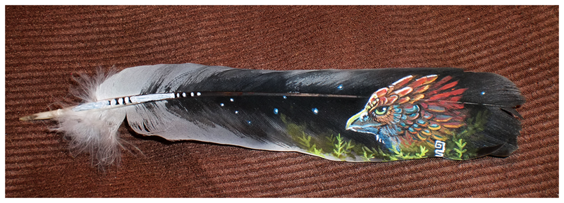 Feather gryphon sold