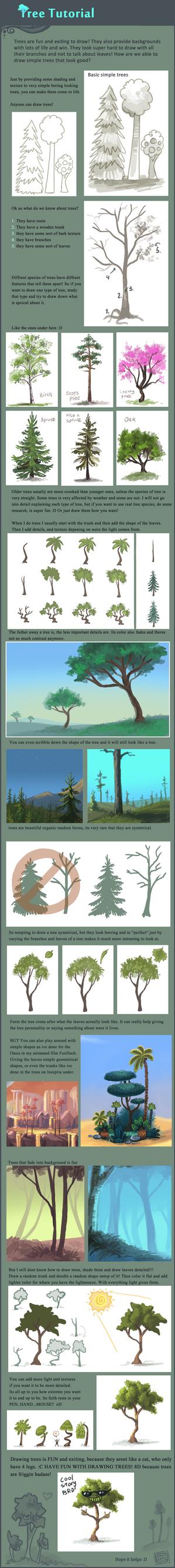 Tree tutorial by griffsnuff