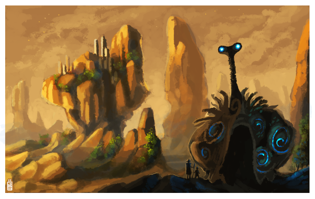 Journey of the giant snail by griffsnuff