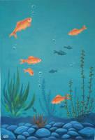 Mural - Pond by griffsnuff