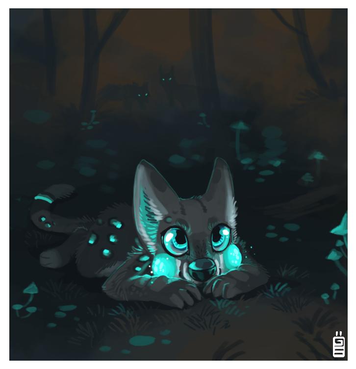 Glowing night by griffsnuff