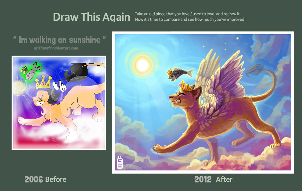 Draw this again entry Walking on sunshine by griffsnuff