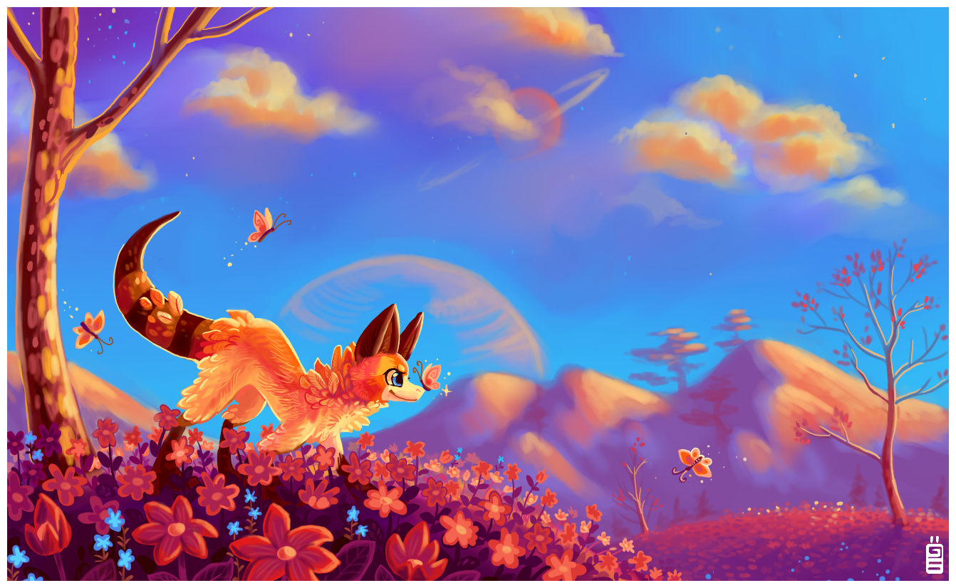 Field of flowers by griffsnuff