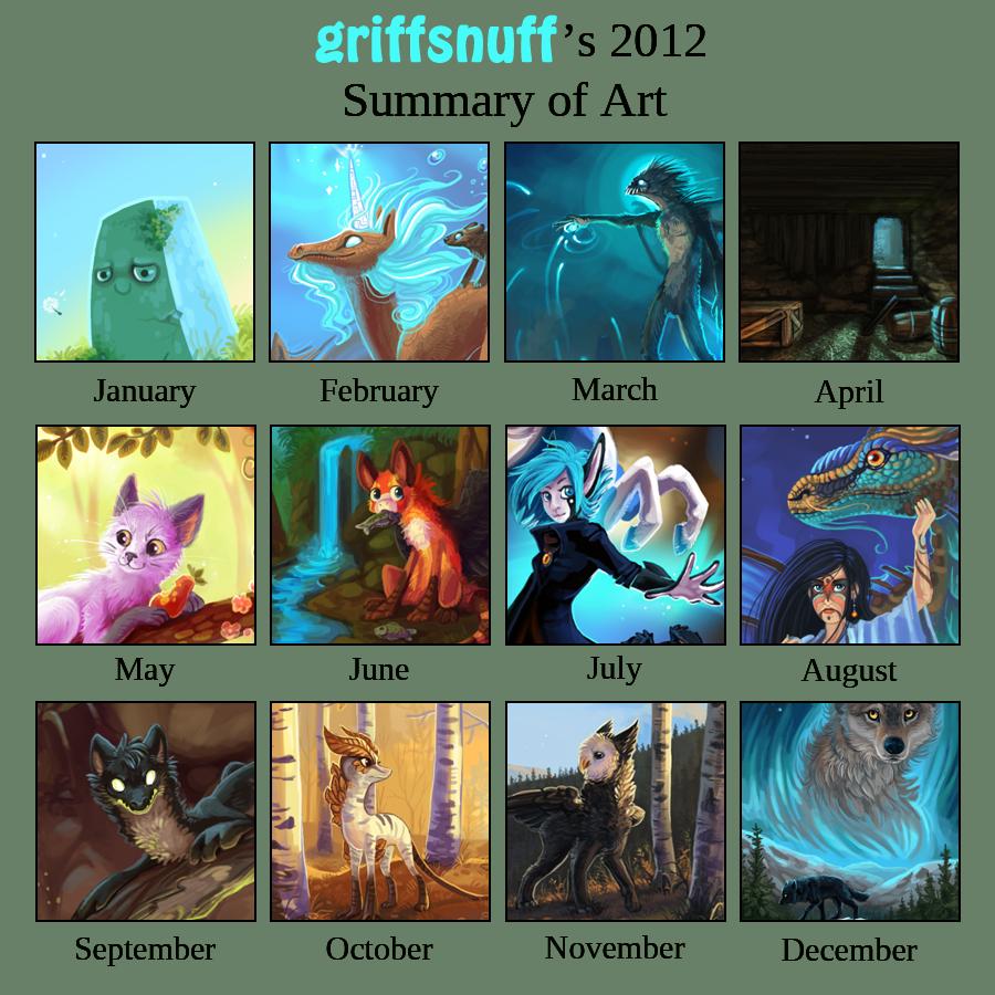 2012 Summary of art by griffsnuff