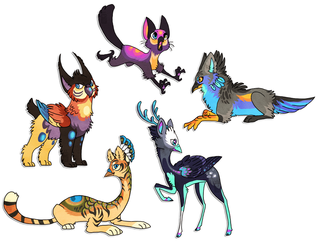 Gryphon designs by griffsnuff