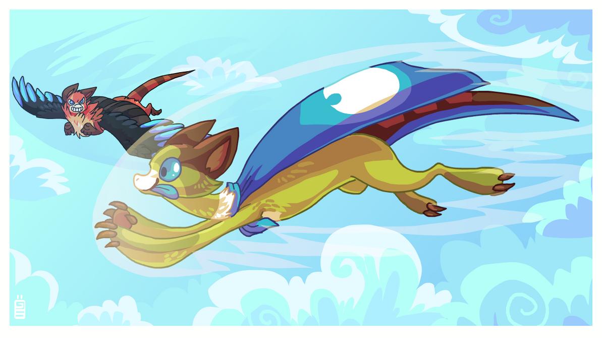 Gunnar flying by griffsnuff
