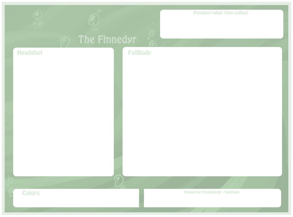 Finnedyr reffrence sheet base by griffsnuff
