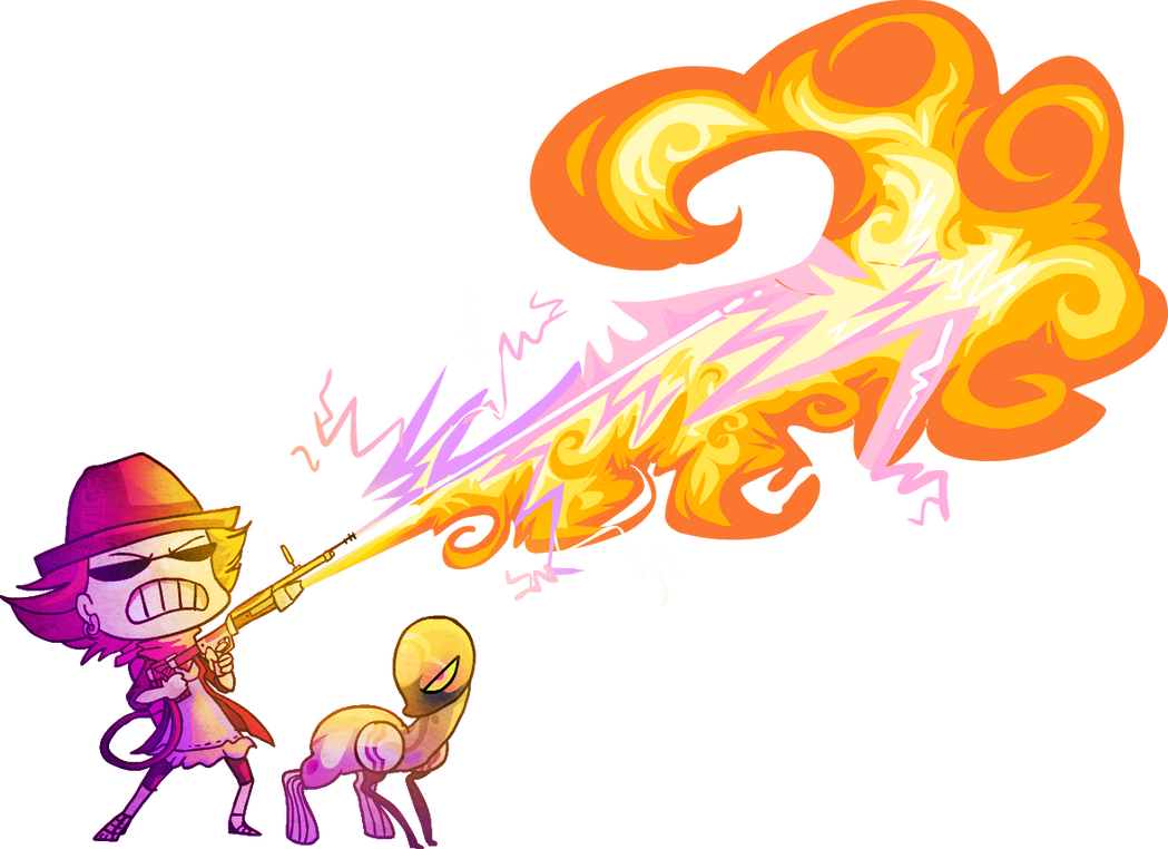 FLAMETHROWERLAZERELECRICHOSE by griffsnuff