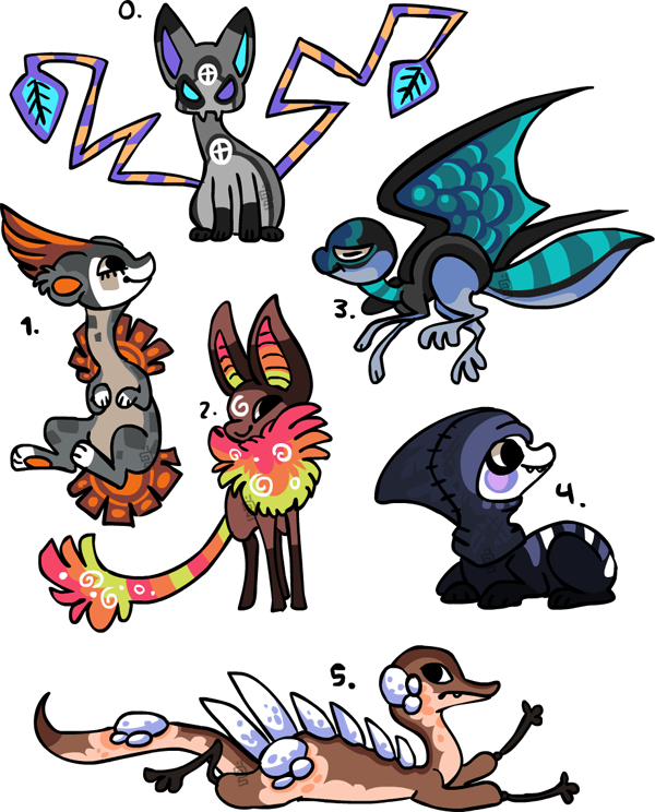Some designs SOLD by griffsnuff