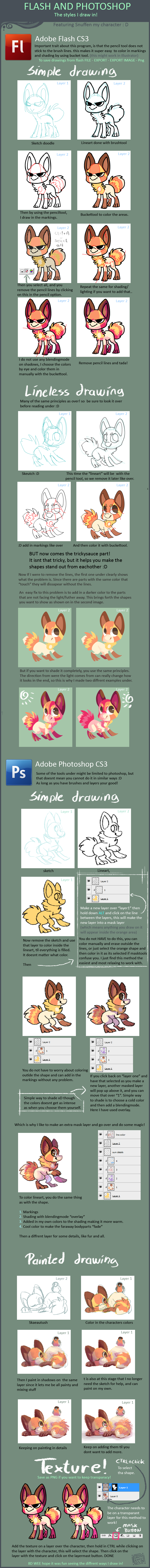 Flash and photoshop tutorial on how I use them by griffsnuff