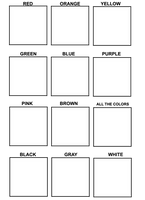 Characters color meme BLANK