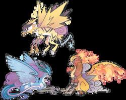 Legendary gryphons redraw