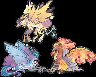 Legendary gryphons redraw by griffsnuff