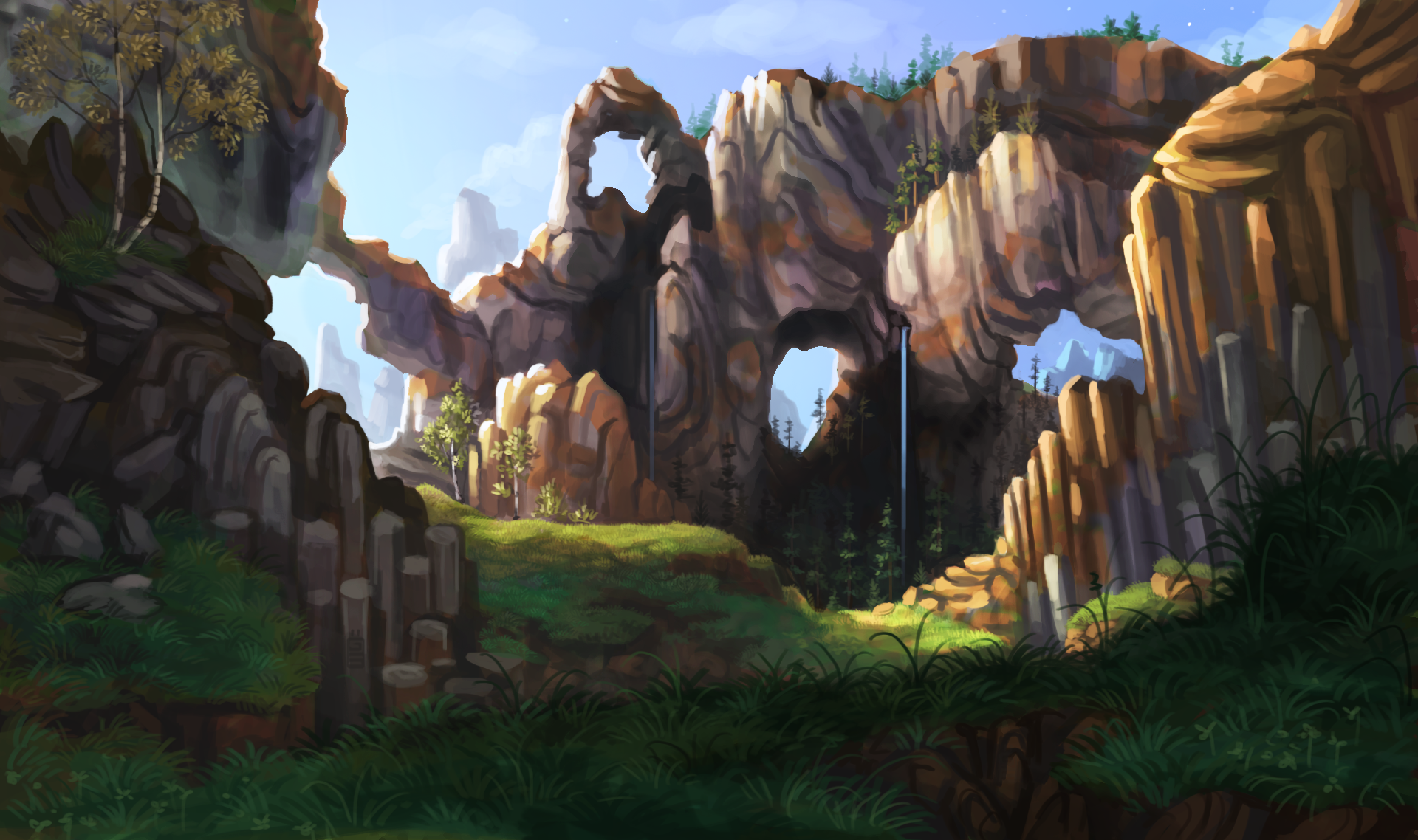 Fantastic Wallpaper Minecraft Scenery - minecraft_repainted_by_griffsnuff-d79wp4u  Picture_293182.png