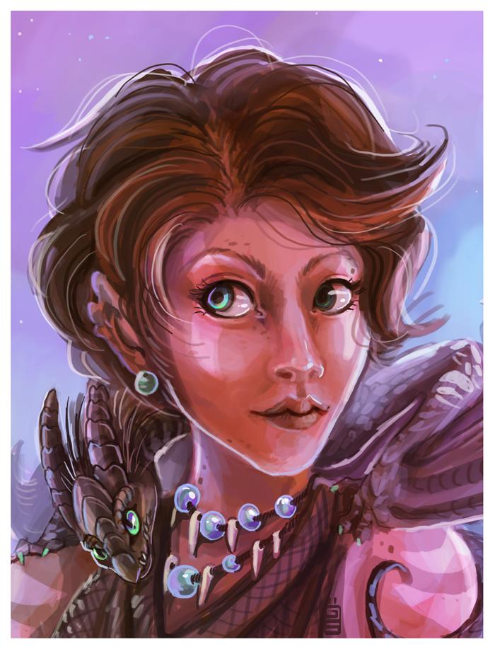Dragon lady by griffsnuff
