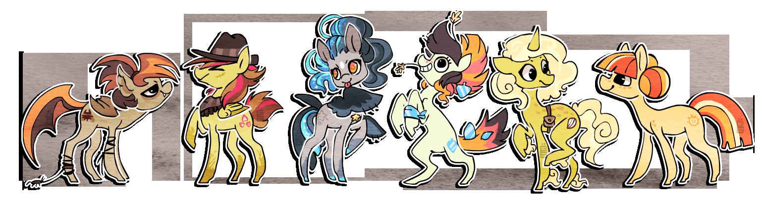 Pony oc's by griffsnuff