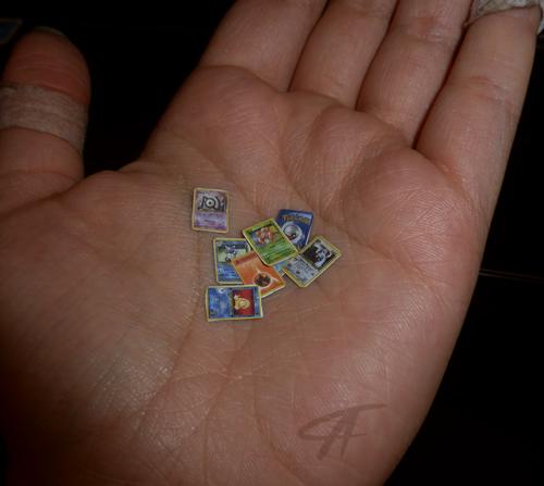 mini pokemon cards by griffsnuff